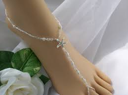 starfish barefoot sandals free us shipping pearl silver bridal barefoot sandal
