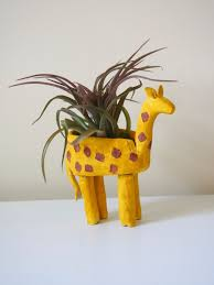 Kidsinmind by Clay Giraffe Planter Diy With Kids In Mind
