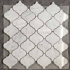 carrara marble lantern mosaic backsplash tiles lowes buy