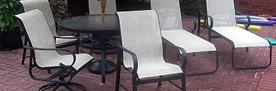 Carter Grandle Replacement Slings And Patio Furniture Refinishing - Patio furniture repair