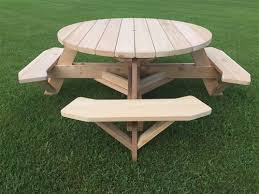 best picnic table round swing out round picnic table barco
