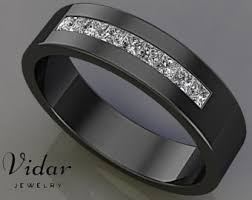 mens wedding band with diamonds unique custom wedding and diamond engagement by vidarjewelry