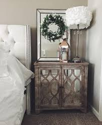 libby silver mirrored 3 drawer chest nightstands mesas and drawers