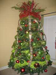 christmas tree decorations with mesh ribbons u2013 happy holidays