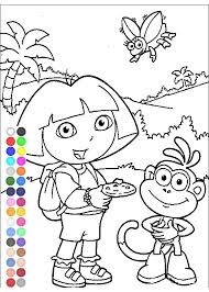 dora explorer coloring games free kids coloring pages