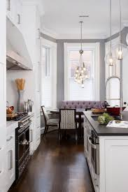 kitchen 18am solid wood and large breakfast nook contemporary