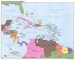 Map Of The Caribbean Islands Central American And Caribbean Islands Map Caribbean U2022 Mappery