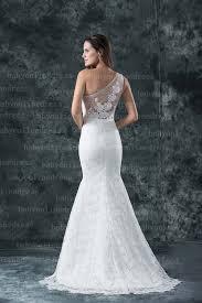 One Shoulder Wedding Dress 2017 Real Made One Shoulder Mermaid Lace Wedding Dresses