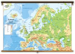 Rail Map Of Europe by Europe Physical Classroom Map From Academia Maps