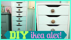diy ombre ikea alex drawers makeup storage tutorial youtube