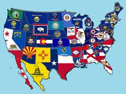 Flag Of Oklahoma Image New 50 States Flag Map Png Alternative History Fandom