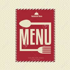 restaurant menu card design template royalty free cliparts