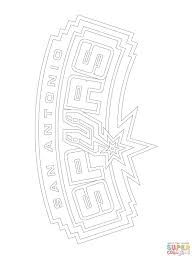 san antonio spurs logo coloring page free printable coloring pages