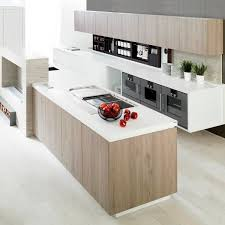 contemporary kitchen wood veneer island lacquered e2 30