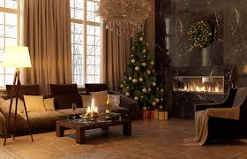 decorations nature inspired christmas living room decoration
