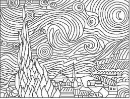 coloring free online colouring pages 10 starry night coloring