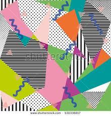Design Patterns For Cards Memphis Seamless Pattern Geometric Elements Memphis Stock Vector