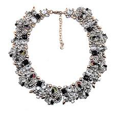bib necklace crystal images Xmx women 39 s vintage rhinestone crystal collar choker jpg