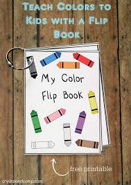 printable color flash card flip book flip books free printable