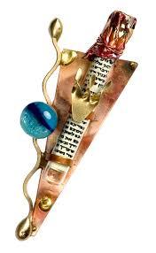gary rosenthal menorah artistic creation mezuzah cover by gary rosenthal a of