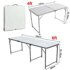 6 ft portable folding table 2 4 6ft portable folding trestle table aluminum heavy duty cing