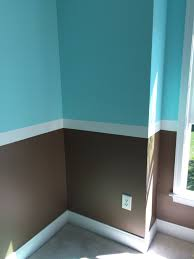 Blue And Brown Bedroom by Blue And Brown Bedroom Walls With White Strip Bedroom Wall Color