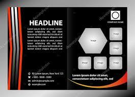 black bi fold brochure template design business leaflet booklet