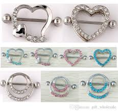 chain nipple rings images Nipple shield rings barbells body jewelry love heart double jpg