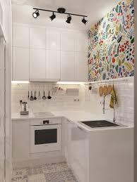 modern compact kitchen design kitchen design white wall cabinet open shelves tiny house green