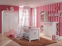 babyzimmer kinderzimmer cinderella 7 teilig weiß rosa de baby - Babyzimmer Rosa