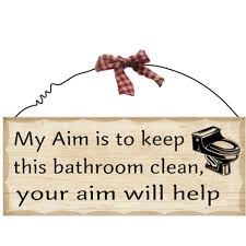 amazon com 1 x 10 u0027x4 u0027 wooden sign decor bathroom aim by fuqua5