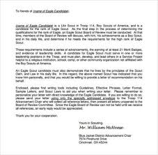 eagle scout recommendation letter sample eagle scout