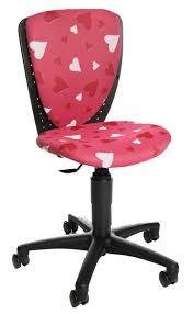chaise bureau enfant chaise de bureau enfant fille motif coeurs chaise de bureau fille à