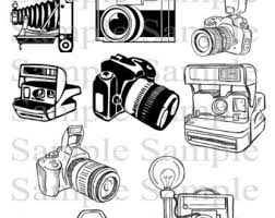 photography clipart camera sketch pencil and in color