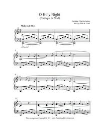 o holy night free piano christmas sheet music for late