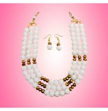 crystal bead necklace jewelry images Western pearl crystal beads necklace png