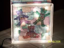 How To Decorate Glass Blocks Glass Block Christmas Decoration Thriftyfun