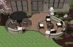 Paver Patio Plans Pre Priced Patio Designs Dayton Schneider S Landscaping