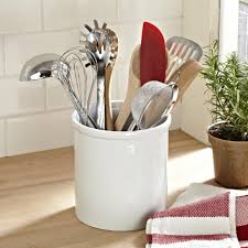 kitchen utensil canister ksp basics porcelain utensil holder white kitchen stuff plus