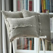 Grey Linen Cushions Decorative Cushion Covers Linenme