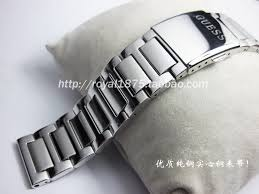 solid stainless steel bracelet images Polishing quality folding buckle watchband 22mm solid stainless jpg