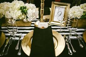 black and white table settings gold table setting black white and gold table setting idea via gold