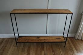 wood and iron sofa table metal console table wood top console table refinishing metal