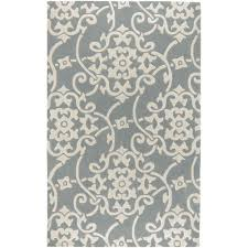 artistic weavers meredith silver gray 5 ft x 8 ft area rug mere