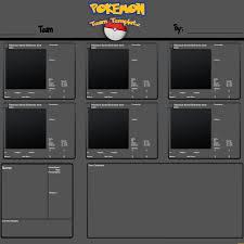 custom pokemon team template by drake09 on deviantart