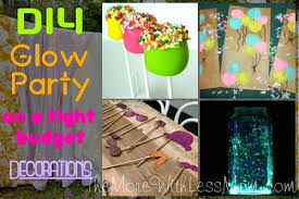 glow in the party ideas for teenagers diy glow party birthday on a tight budget decorations