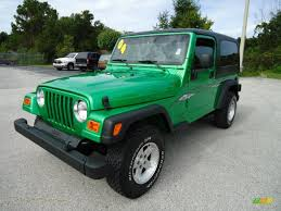 2004 jeep wrangler sport 4x4 in electric lime green pearl 760818