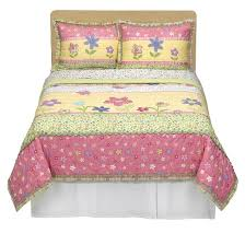 Pink And Yellow Bedding Circo Happy Flower Quilt Set Pink Yellow Full Queen Target
