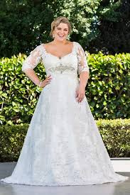 wedding dresses with sleeves plus size wedding dresses with sleeves for fleshy brides www