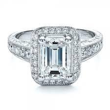emerald cut engagement rings custom emerald cut engagement ring 1478